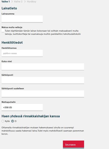 Jos haluat helpon ja vaivattoman lainan, niin lainahakemuksen jättäminen Bank Norwegianille kannattaa.