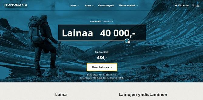 Monobank on norjalainen juuri Suomeen rantautunut pankki