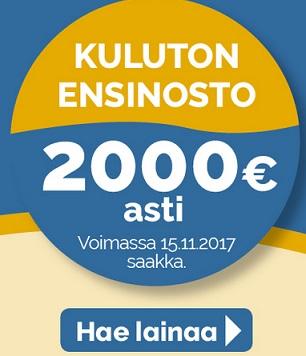 Suomilimiitin huikean iso, selkeästi suurin ilmainen laina on nyt 2000 euroa!