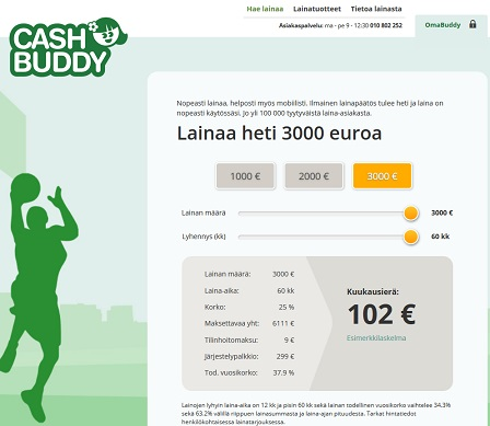Cashbuddyn edullisen kulutusluoton saat helposti heti tilille