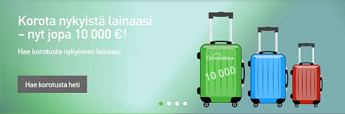 Ostosrahan asiakkaana voit korottaa vanhan lainasi suuremmaksi, jopa 10.000 euroon!