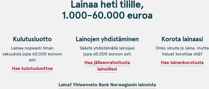 Bank Norwegianin parhaat pikalainat ovat olleet todella suosittuja aina vuodesta 2015